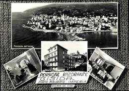Cp Porto Maurizio Liguria, Pensione Gisida, Panorama Dall'Aero, Salotto, Facciata, Sala Da Pranzo - Italy