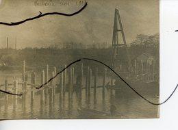 PHOTO Animée. Verberie. Soldats Du Génie ? Construction D'un Pont ? Novembre 1914. - Guerre, Militaire