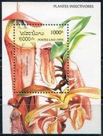 Laos 1995  BF 132 ; Block 155 **  MNH  Carnivorous Plants, Plantes Carnivores - Laos
