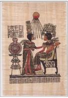 VERITABLE PAPYRUS PAPYRU VERO PAPIRO PAPIRI ANNI 70 FATTO A CHINA E TEMPERA CON CERTIFICATO DI GARANZIA - Arte Africana