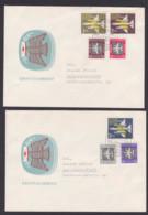 DDR Flugpostmarken Stilisiertes Flugzeug MiNr. 609/15 FDC - [6] République Démocratique