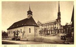 25 - Doubs - Montbéliard - Temple Saint Georges Et Eglise Catholique - C 7773 - Montbéliard