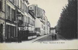 C.P.A. - FR. > [78] Yvelines > Poissy > Boulevard De La Seine Animé - TBE - Poissy