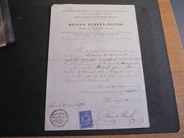PARIS 27/4/1876-ADMINISTRATION SPECIALE DES FUNERAILLES ET TRANSPORTS FUNEBRES-FACTURE ACQUITEE HENRI DE BORNIOL - France