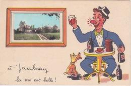 37 - JAULNAY  - CARTE FANTAISIE - HUMOUR - LA VIE EST BELLE A JAULNAY - LE CHATEAU - Non Classés