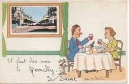 C.P.A.-  IL FAIT BON VIVRE A ROMILLY SUR SEINE - JEAN DE PRES.... - J. P. - Romilly-sur-Seine