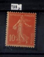 SEMEUSE NO138 J  NEUF ** - 1906-38 Sower - Cameo