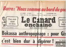 Canard Enchaîné : 23 Mai 1979 & 26 Septembre 1979 - Giscard Bokassa Barre - Zeitungen