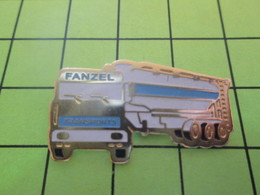 1015b Pin's Pins / Beau Et Rare : THEME : TRANSPORTS / CAMION CITERNE TRANSPORTS FANZEL - Transportation