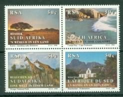 South Africa: 1990   Tourism  MNH Block Of 4 - Ungebraucht