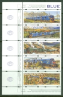 South Africa: 1997/98   Inauguration Of Revived Blue Train Service    SG987a    MNH Strip Of 5 - Ungebraucht