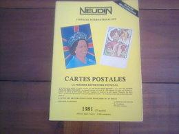 CATALOGUE NEUDIN 1981  - - Livres