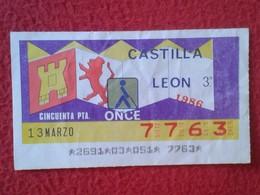 CUPÓN DE LA ONCE SPANISH LOTTERY LOTERIE SPAIN CIEGOS BLIND LOTERÍA ESPAÑA REGIONES 1986 CASTILLA Y LEÓN CASTILLE VER FO - Billetes De Lotería