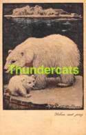 CPA ILLUSTRATEUR  ARTIST SIGNED VERSTIJNEN VERSTYNEN OURS POLAR BEAR IJSBEER BEER - Illustrateurs & Photographes