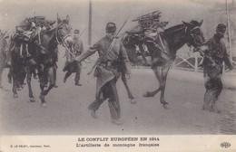 37 CAMP DU RUCHARD (ENVOYÉ DU).  GUERRE 1914-18. L'ARTILLERIE DE MONTAGNE FRANÇAISE. + TEXTE DU  2/11/1914.. - Guerre 1914-18