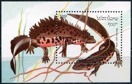 Laos 1994  BF 127 ; Block 150 **  MNH  Reptiles And Amphibians - Laos