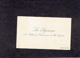 SINT-TRUIDEN 1906 OUDE VISITEKAARTJE - La Supérieure Et Les Religieuses Chanoinesses Du St-Sépulcre - Visiting Cards