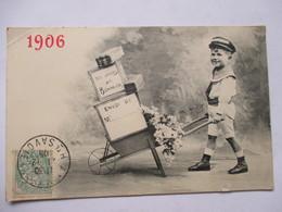 1906 -    GARCON  LIVREUR   ...          Pt.  ACCROC - Nouvel An