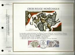 CEF N° : 200 . CROIX ROUGE MONEGASQUE . HERCULE ET LE SANGLIER D'ERYMANTHE . 08 NOVEMBRE 1982 . MONACO . - FDC
