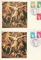 France Carte Maximum Yvert 1971 + 1973 1974 + 1976 + 1978 Sabine Paris 3/6/1978 - 2 Cartes - Cartoline Maximum