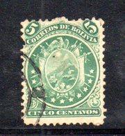 APR1796 - BOLIVIA 1871 , Yvert N. 14  Usato - Bolivia