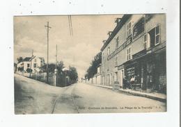 LE PEAGE DE LA TRONCHE 1592 ENVIRONS DE GRENOBLE  (CAFE ET MANUFACTURES DE GANTS LE MARCEL Bte SGDG)   1915 - La Tronche