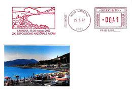 ITALIA - 2002 LAVAGNA (GE) Veduta - XXI Expo Aicam - Affrancatura Meccanica Rossa Red Meter SPECIMEN - Vacanze & Turismo