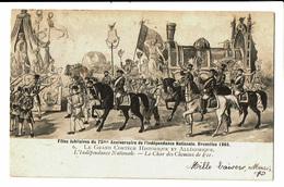 CPA - Carte Postale-Belgique Bruxelles-Fête Du 75me Anniversaire De L'indépendance- Le Char Du Congo-1906 VM4616 - Fêtes, événements