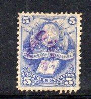 APR1804 - BOLIVIA 1878 , Yvert N. 19 Usato - Bolivia