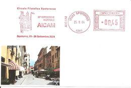 ITALIA - 2004 SPOTORNO (SV) Veduta - 23° Expo Aicam -  Affrancatura Meccanica Rossa Red Meter SPECIMEN - Vacanze & Turismo