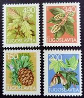 Yougoslavie Yougoslavia Jugoslavija 1978 Arbre Tree Yvert 1648 1650 1652 1654 ** MNH - Ungebraucht