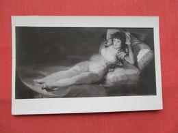 RPPC  Risque Female Goya Spain  Ref  3483 - Paintings
