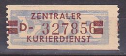 Germany East ZKD 21D Billett Postfrisch Unused, Postfrisch Originalgummi, Wertstreifen 20 Pfg. - Dienstpost