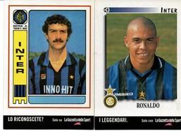 2 PROMOCARD INTER RONALDO E GIUSEPPE BERGOMI - Calcio