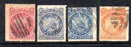 APR1808 - BOLIVIA 1887 , Serie Yvert N. 23/26 Usata - Bolivia