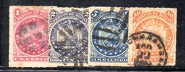 APR1809 - BOLIVIA 1887 , Serie Yvert N. 23/26 Usata - Bolivia