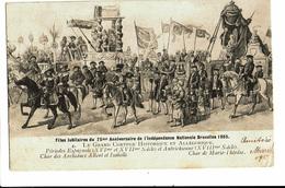CPA - Carte Postale-Belgique Bruxelles-Fête Du 75me Anniversaire De L'indépendance- Le Char De Marie Thérèse-1906 VM4618 - Fêtes, événements