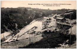 19 Barrage Sur La Diège, Aux Chaumettes De ROCHE-le-PEYROUX - Vue D'ensemble Des Travaux - Other Municipalities