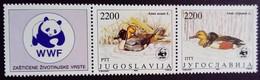 Yougoslavie Yougoslavia Jugoslavija 1989 Animal Oiseau Bird Canard Duck WWF Yvert 2213 2214 ** MNH - Ungebraucht