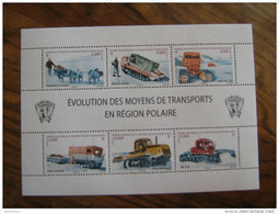 2010  TAAF  F560  NO YT 560/565  * *   EVOLUTION DES MOYENS DE TRANSPORT  EN REGION POLAIRE - Blocs-feuillets