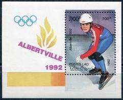 Laos 1992  BF 118 ; Block 141 **  MNH  Winter Olympic Games, Albertville (IV) - Laos