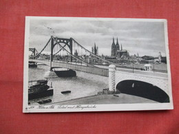 RPPC Koln A Rh  Bridge  Stamp   & Cancel  Ref  3483 - Germany