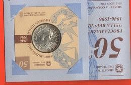 10000 Lire 1996 50° PROCLAMAZIONE Repubblica Italiana Anniversario - 10 000 Lire