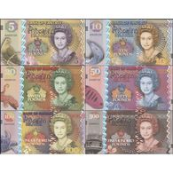 TWN - PITCAIRN ISLANDS (private Issue) - 5-500 Pounds 2018 Polymer - Queen Elizabeth II - Set Of 6 - Private Issue UNC - Banknotes