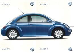 4 Cart'Com-puzzle.  New Beetle De Volkswagen.   Voiture.   Automobile. - Passenger Cars