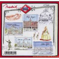 France - Phil@poste - Carte Postale Pré-timbrée (2019) - Timbre International Plaza Mayor - Madrid Capitale Européenne - Documents De La Poste