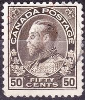 CANADA 1911 KGV 50c Sepia SG215 Fine Used - 1911-1935 Reign Of George V