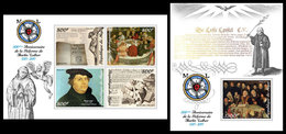 NIGER 2017 - Martin Luther, Reformation - YT CV=39 €, 4439-42 + BF821 - Theologians