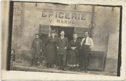 CARTE PHOTO . EPICERIE   VEUVE MARRO   PENSE LA SEYNE SUR MER - Postcards