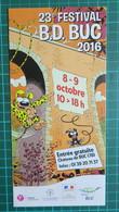Brochure - 23e Festival BD - Duc - 2016 - Batem - Libros, Revistas, Cómics